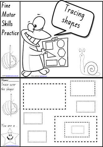 Foundation Handwriting | Practice | Tracing Shapes | Black and White | Charts | VIC Print