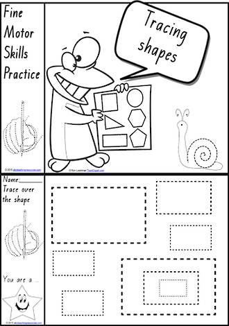 Foundation Handwriting | Practice | Tracing Shapes | Black and White | Charts | QLD Print