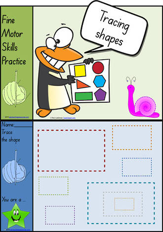 Foundation  Handwriting | Practice | Tracing Shapes | Colour Charts | SA Print