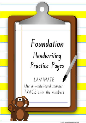 Foundation  Handwriting | Practice | Number | VIC Print