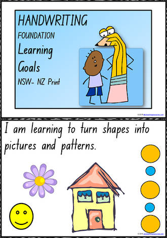 Foundation Handwriting | Visible Learning | Learning Goals | Charts | NSW-NZ Print