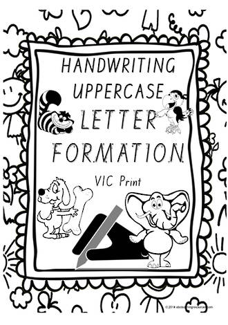 Year 1 Handwriting | Letter Formation | UPPERCASE | Charts | SA Print