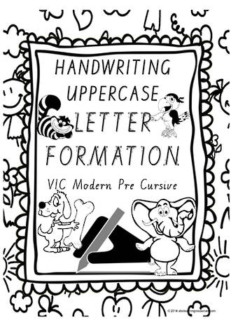 Year 1 Handwriting | Letter Formation | UPPERCASE | Charts| VIC PreCursive