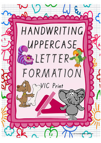 Year 1 Handwriting | Letter Formation | UPPERCASE | Colour Charts | VIC Print