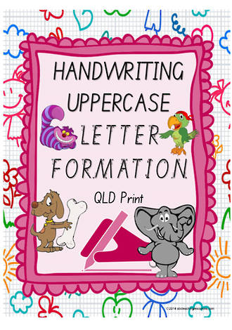 Year 1 Handwriting | Letter Formation | UPPERCASE | Colour Charts | QLD Print