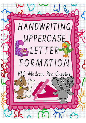 Year 1 Handwriting | Letter Formation | UPPERCASE | Colour Charts | VIC PreCursive