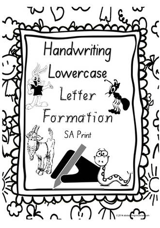 Year 1 Handwriting | Letter Formation | Lowercase | Charts | SA Print