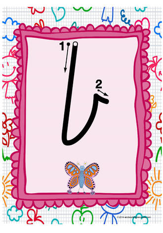 Year 1 Handwriting   Letter Formation   Lowercase   Colour Charts   VIC Print
