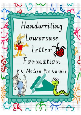 Year 1 Handwriting | Letter Formation | Lowercase | Colour  Charts | VIC PreCursive
