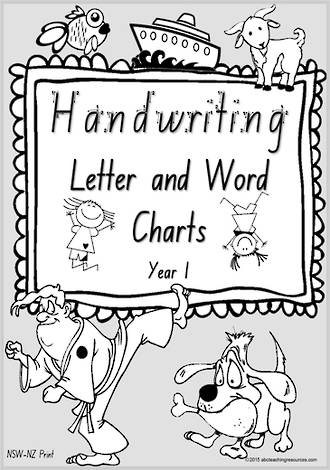 Year 1 Handwriting | Letter Formation | Letter - Word | Black & White Pages |  NSW-NZ Print