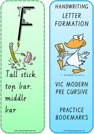 Year 1 Handwriting | Terminology | Bookmark | Uppercase Letter | Cards | VIC PreCursive