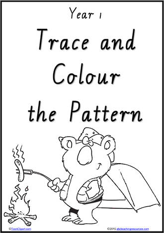 Year 1 Handwriting | Practice | Pattern and Shapes | Black and White | Charts | VIC PreCursive
