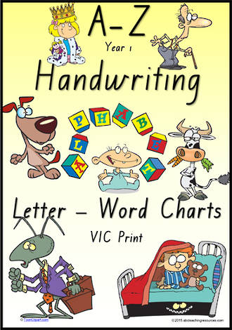 Year 1 Handwriting   Management   Letter – Word   Colour Charts   VIC Print