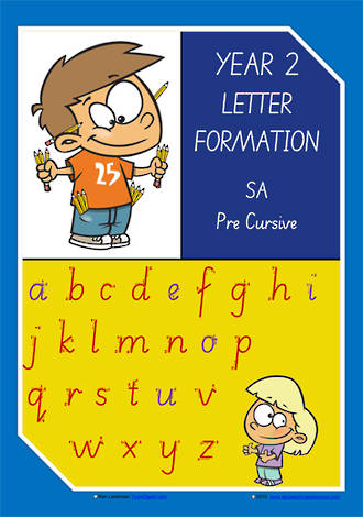 Year 2 Handwriting   Letter Formation   Uppercase   Lowercase   Colour Charts   SA PreCursive