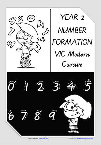 Year 2 Handwriting | Number Formation | VIC  PreCursive