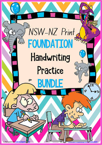 Foundation Handwriting | Practice | BUNDLE | NSW-NZ Print