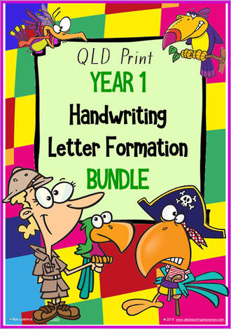 Year 1 | Handwriting | Letter Formation | BUNDLE | QLD Print
