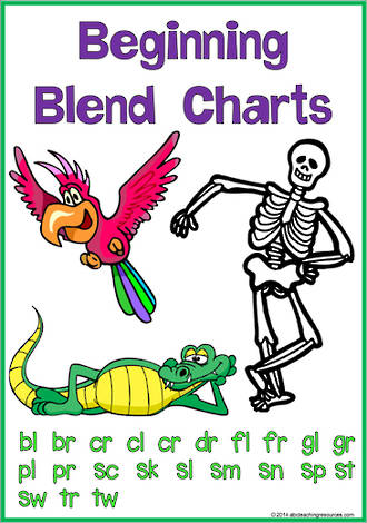 Beginning Blends| Blend-Word-Picture | Charts