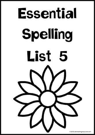 Essential Spelling   List 5   Charts