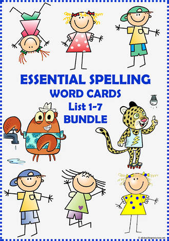 Essential Spelling | Lists 1-7 | Word Cards | BUNDLE