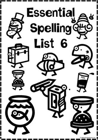 Essential Spelling | List 6 | Activities