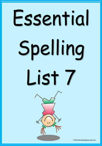 Essential Spelling | List 7 | Cards
