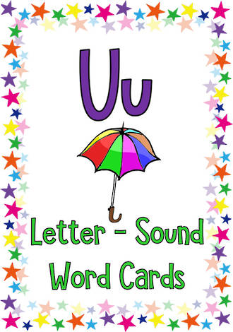Letter Uu | Word | Cards | Sassoon Style