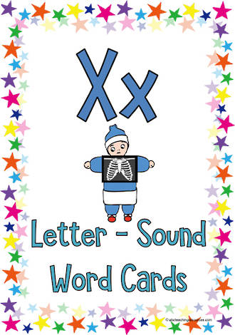 Letter Xx | Word | Cards