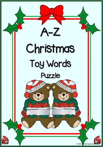 A-Z | Christmas Toy Words | Puzzle