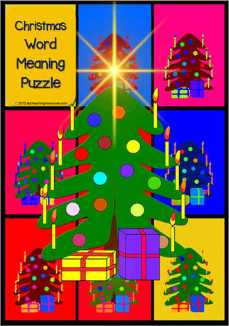 Christmas | Word - Meaning  | Puzzle