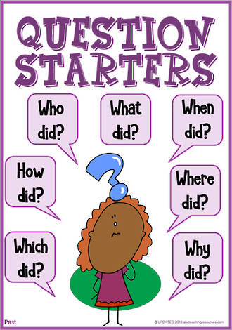 Question Starters | Literal Questioning | Past Information