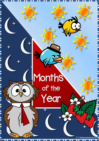 Months of the Year | Cards | Poem