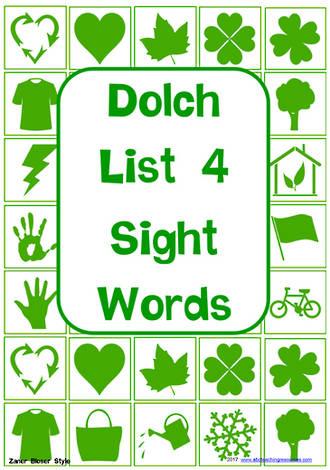 Sight Words |  Dolch Grade 2 | List 4 | Cards | Zaner – Bloser Style