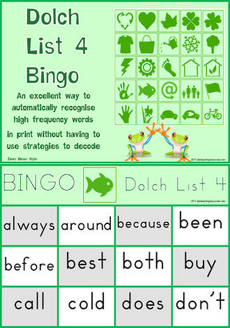 Sight Words | Bingo Game | Dolch Grade 2 | List 4 | Zaner – Bloser Style