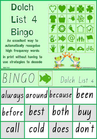 Sight Words | Bingo Game | Dolch Grade 2 | List 4 | QLD Print