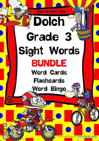 Sight Words   Dolch Grade 3   List 5   BUNDLE   National First Style