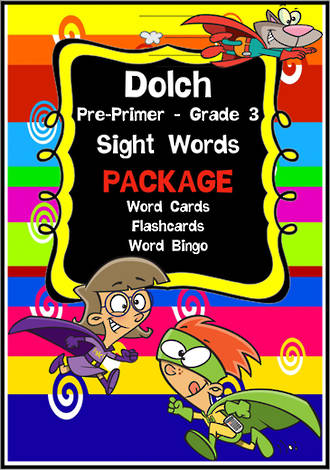 Sight Words|  Dolch:  Pre-Primer, Primer, Grade 1, Grade 2, Grade 3 | PACKAGE | Zaner Bloser Style