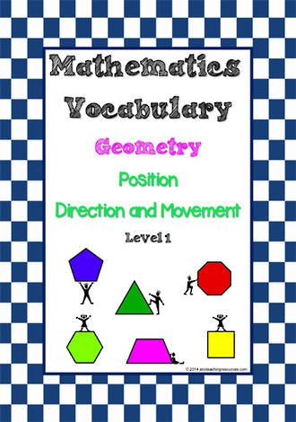 Mathematics Vocabulary | Geometry | Position, Direction and Movement| Level  1 | Tiles