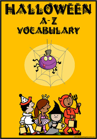 Halloween | A-Z Vocabulary | Cards