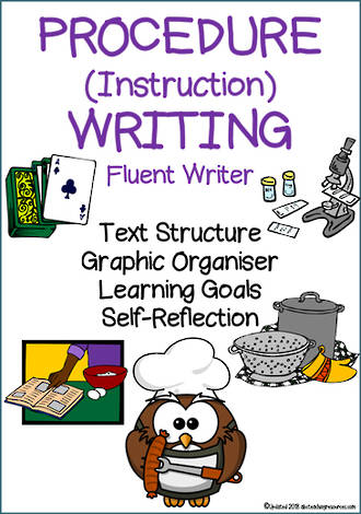 Procedural Writing | Learning Intentions and Self Reflection | Fluent Writer