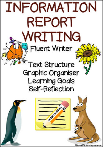 Information Report Writing | Learning Intentions and Self Reflection | Fluent Writer