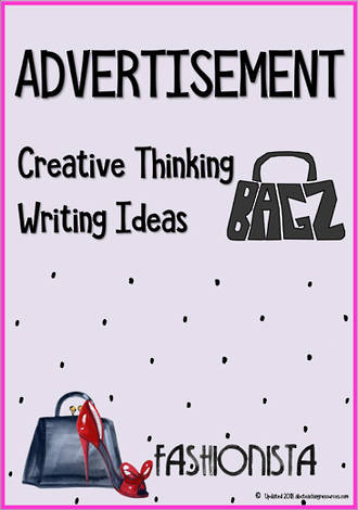 Advertisement | Critical & Creative Thinking  | Writing Prompt