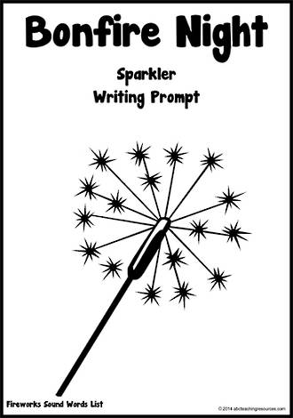 Guy Fawkes Day | Sparkler | Bold Line| Writing Template