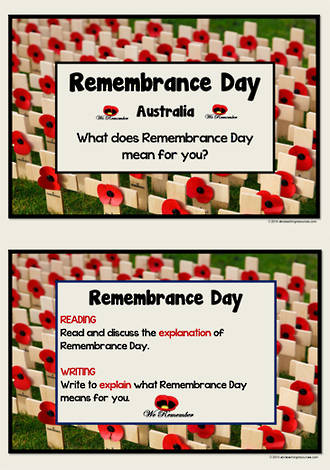 Remembrance Day | Australia | Explain| Reading and Writing Prompts