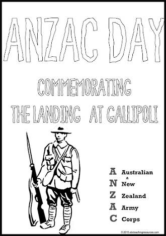 ANZAC Day   Writing Template   7mm Lines