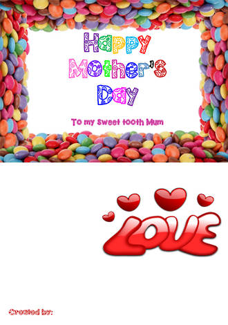 Mother's Day   Sweet Card   Writing Prompt