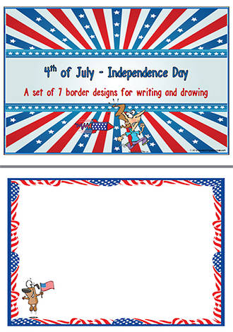 Independence  Day | 4th of July  Borders | Template | Blank Page