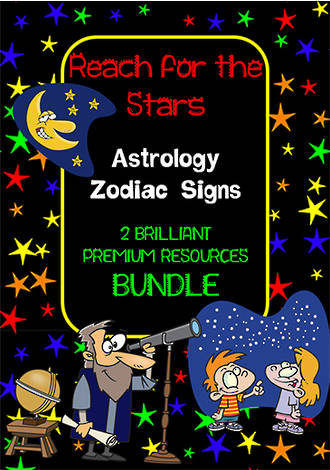 Zodiac Signs | Vocabulary | Inquiry | Writing Prompt | BUNDLE