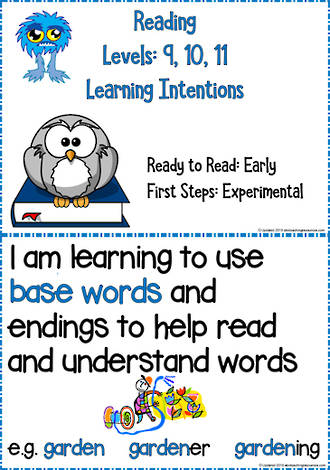 Reading Progressions | Levels 9,10,11 | Learning Intentions