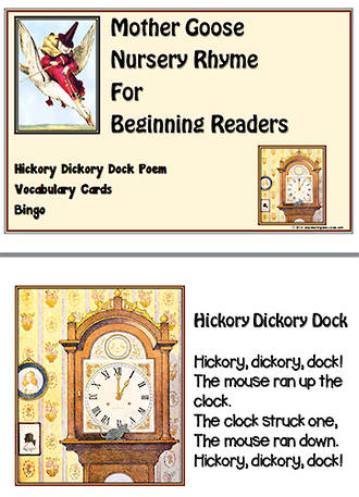 Mother Goose | Hickory Dickory Dock | Emergent Readers